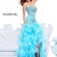 Sherri Hill 21127 Coral Hi Lo Dress