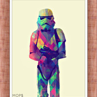 "PROTECT & SERVE (Stormtrooper from STaR WaRS) 8x10"" Digital Illustration High Gloss Print by MoPS"