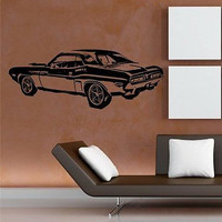 DODGE CHALLENGER RT 1971 CAR WALL ART STICKER DECAL MURAL VINYL D2303
