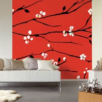 Red Blossom wall art from Nono