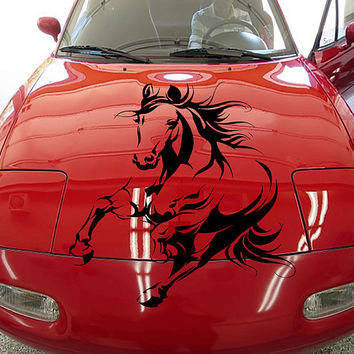 horse car hood decal horse Car Decals horse Car Truck horse Side Body Graphics Decal horse Sticker for car kikcar37