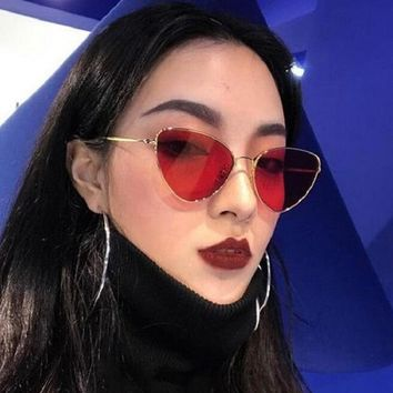Vintage Cat Eye Sunglasses Women Tinted Color Lens Sun Glasses Fashion Brand Design Metal Retro Women's Glasses Zonnebril UV400