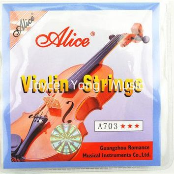 DCCKL72 1 set Violin Strings high quality 4 pieces E A D G for 1/8 1/4 1/2 3/4 4/4 Common Size - Alice A703