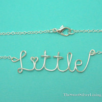 Sorority Little Sister Wire Necklace