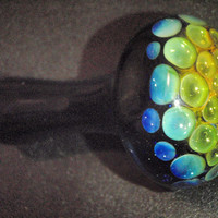 24k gold / silver honeycomb fumed cobalt spoon pipe