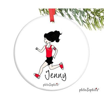Cross Country Runner Ornament - personalized philoSophie's