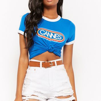 Cannes Graphic Ringer Tee