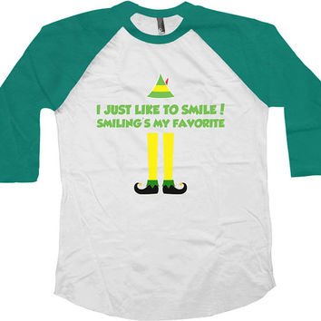 Funny Christmas Raglan Buddy The Elf Christmas Raglan American Apparel Raglan Xmas Gifts Christmas Presents Gifts For Xmas Raglan Tee -SA406