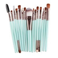 MAANGE 15 pcs Makeup Brushes Set Professional Foundation Powder Eyeshadow Sponge Lip Brush Kits Maquiagem