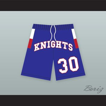 Stephen Curry 30 Charlotte Christian High School Knights Blue Basketball Shorts