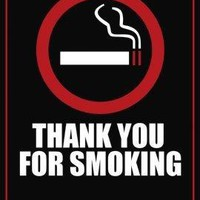 Thank You For Smoking Metal Print 8in x 12in