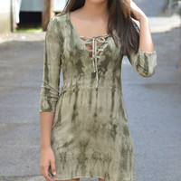 We Belong Together Olive Tunic
