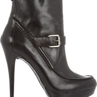 KORS Michael Kors Creston leather ankle boots – 50% at THE OUTNET.COM