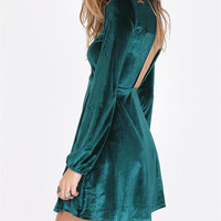 Backless  Long sleeve Slim Dress