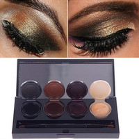 4 Colors Professional Make Up EyeLiner Cosmetic Waterproof Eye Liner Gel Cream Smoky Eyes Makeup Palette