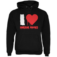 Halloween I Heart Horror Movies Black Adult Hoodie