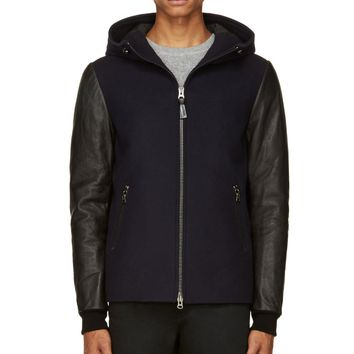 Mackage Navy Wool And Down Perry Jacket
