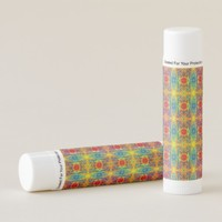 Colorful Abstract Patterns Lip Balm