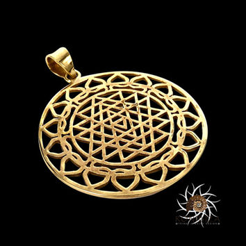 Brass Pendant - Ethnic Pendant - Gypsy Pendant - Brass Jewelry - Ethnic Jewelry - Gypsy Jewelry - Brass Tribal Pendant