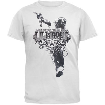 Lil Wayne - Show It White Adult T-Shirt