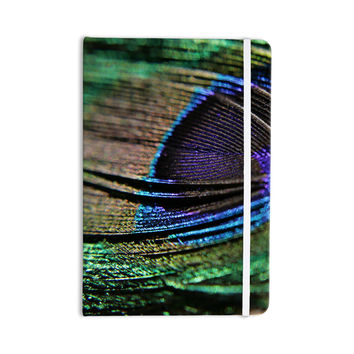"Angie Turner ""Peacock Feather"" Green Blue Everything Notebook"