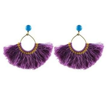 Zuha Earrings in Purple