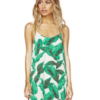 Strappy Dress with Tropical Rainforest Print