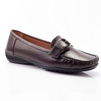 Pierre Dumas Day At The Office Faux Leather Loafers - Brown