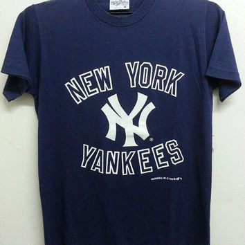 Sale Vintage 1980s New York Yankees Baseball MLB Team Velva Sheen T Shirt