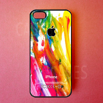 Iphone 5 Case Colorful Paint Iphone Cover Best by DzinerCases