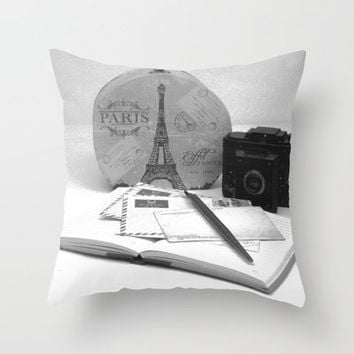 Love Letters From Paris Throw Pillow by Stacy Frett