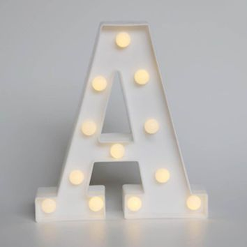 Hot White  letter LED Marquee Sign Alphabet LIGHT UP light Indoor WALL Decoration Wedding Party Window Display Light