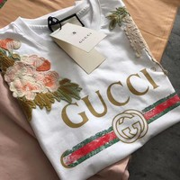 Gucci Garden Embroidered T-shirt