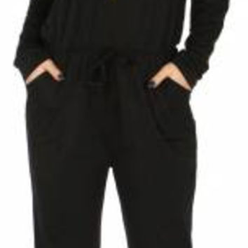 Zippered Jumpsuit w/ hood in 2 Colors in Sizes S-XL