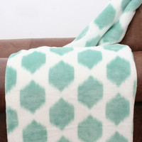 Isabella Ikat Fleece Throw