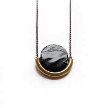 Sun & Moon Necklace ~ Onyx