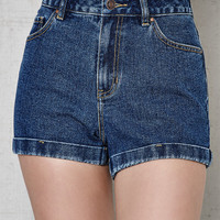 PacSun Doctor Blue Denim Mom Shorts at PacSun.com