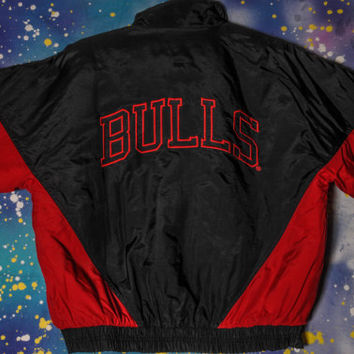 Chicago BULLS Competitor  Starter Style Jacket Size L