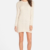 Junior Women's Volcom 'On Track' Sweater Dress ,