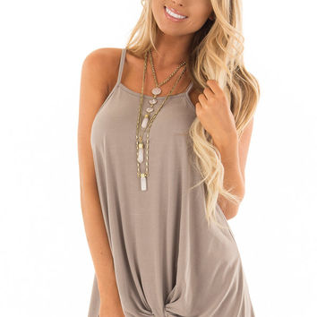 Coco Soft Modal Knit Tank with Twist Detail