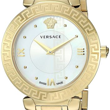 Versace Women's 'DAPHNIS' Swiss Quartz Stainless Steel and Gold Plated Casual Watch(Model: V16070017)