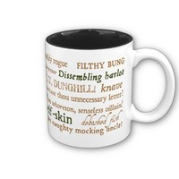 Shakespeare Insults Collection Coffee Mug from Zazzle.com