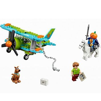 ZXZ Mystery Plane Adventures Scooby Doo Series 127 Bricks Set Sale 75901 Building Blocks Gift Baby Toys Compatible With Legoing