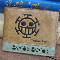 One piece anime Wallet With Coin Pocket Zipper Pouch