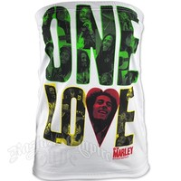 Bob Marley One Love White Tube Top - Women's @ RastaEmpire.com