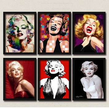 50 Shades of Marilyn Monroe Montage Canvas Posters DIY Retro Wall Decor for Coffee Club Cafe Cajun Kitchen Restaurant Food Kiosk Bakery Bistro Pitshop Diners Sunday Market 28x23cm
