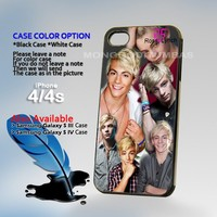 Ross Lynch R5 colege, Print on Hard Cover iPhone 4/4S Black Case