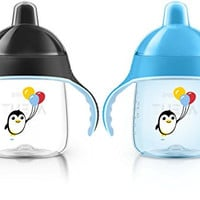 Philips Avent My Penguin Sippy Cup, Blue, 9 Ounce (Pack of 2), Stage 2