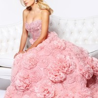 Strapless Beaded Bust line Prom Ball Gown By Sherri Hill 21171