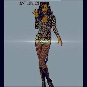 MOONIGHT 2017 New Halloween crazy cat ladies conjoined sexy bodysuits long sleeves leopard sexy costumes sexy lingerie Catwoman Macchar Cosplay Catalogue